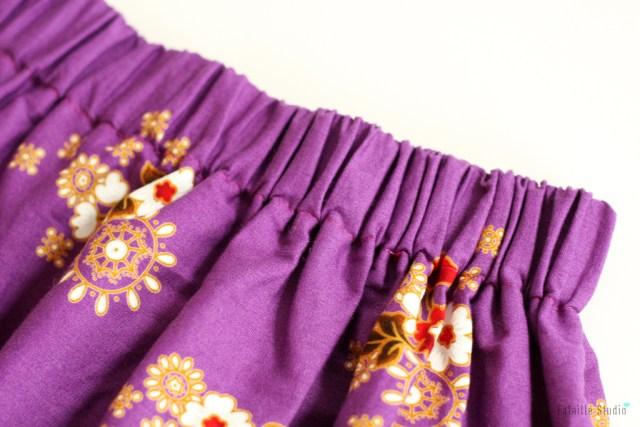 Taille élastiquée jupe longue