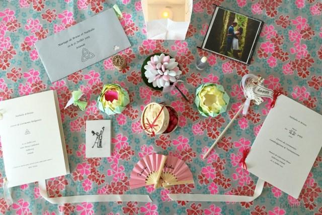 Cadeaux invités mariage asiatique