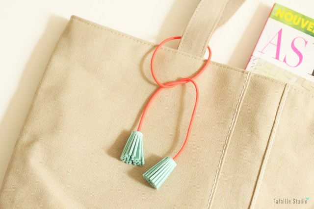 DIY tassel accessoire à franges fluo