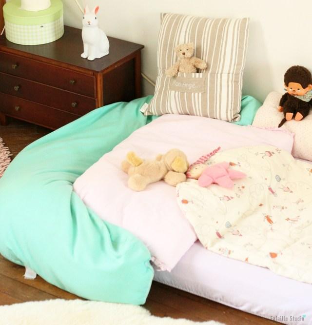 Son lit façon Montessori