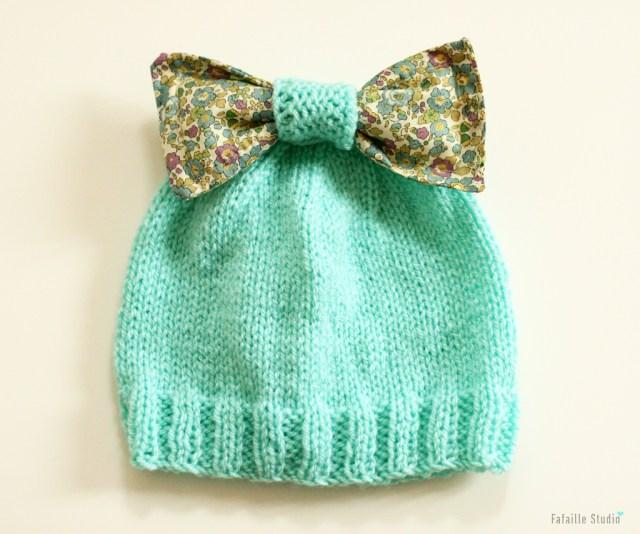 Tuto bonnet à noeuds pour bébé