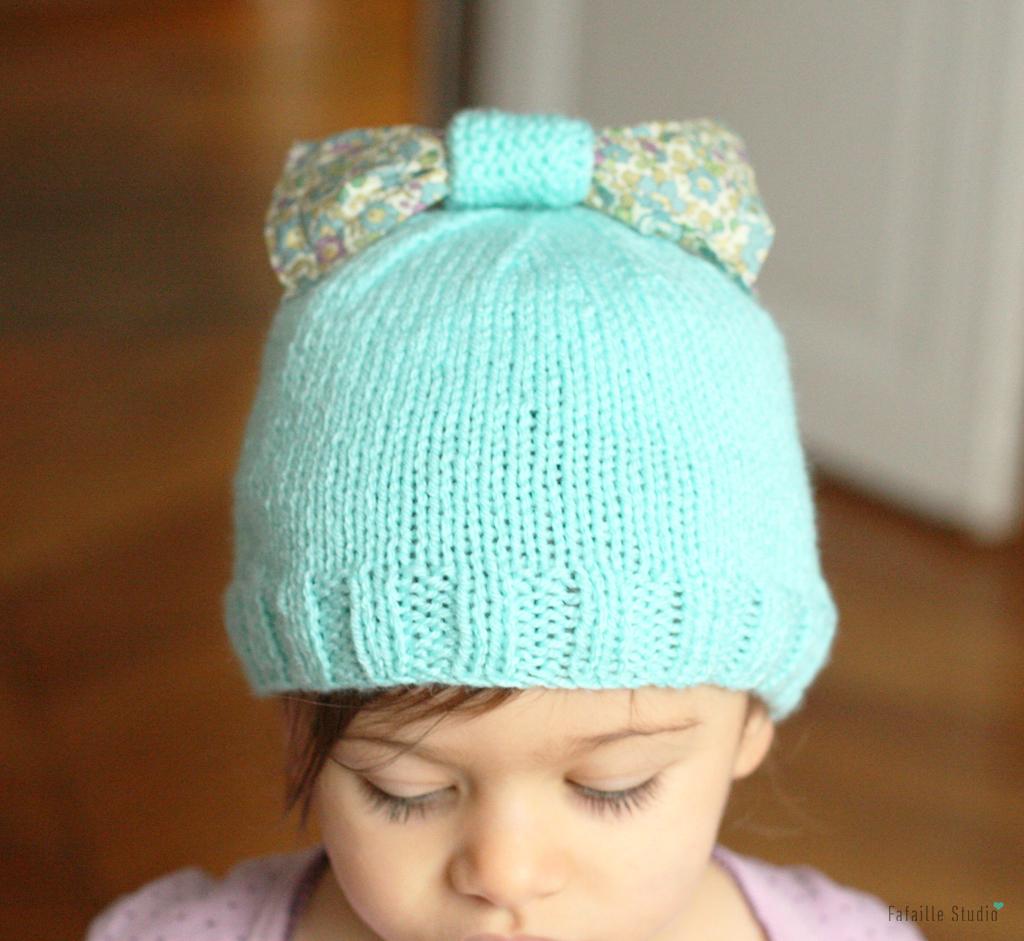 Tuto - Le bonnet mint & Liberty
