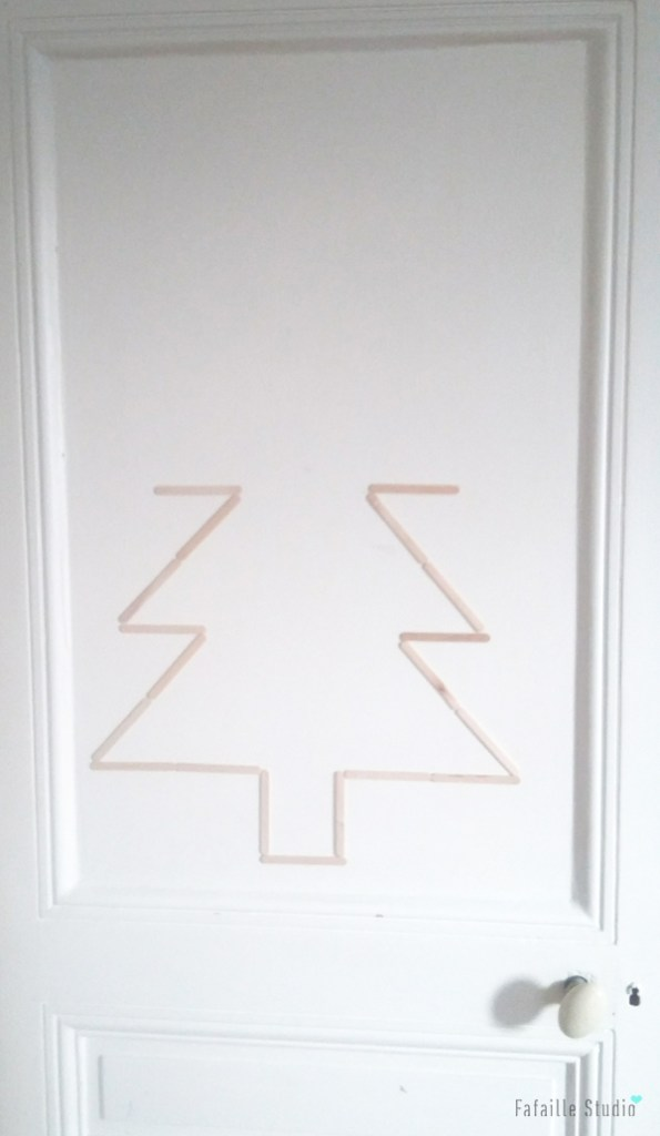 DIY sapin mural super simple