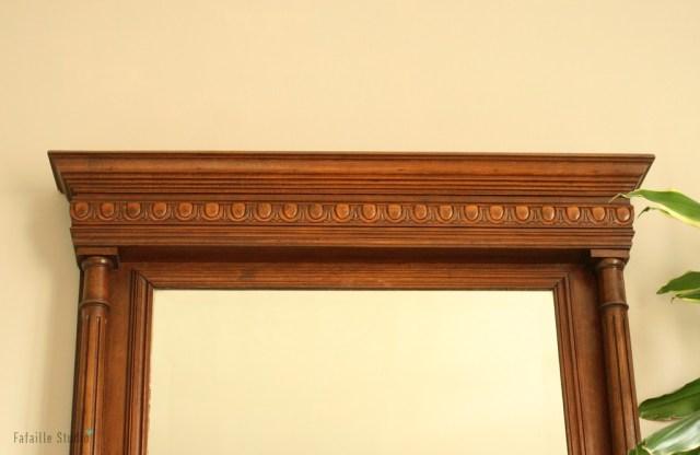 Miroir trumeau en bois