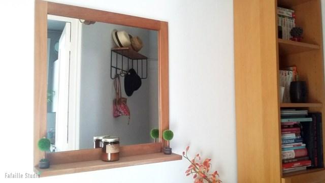 Miroir avec tablette pour entrée