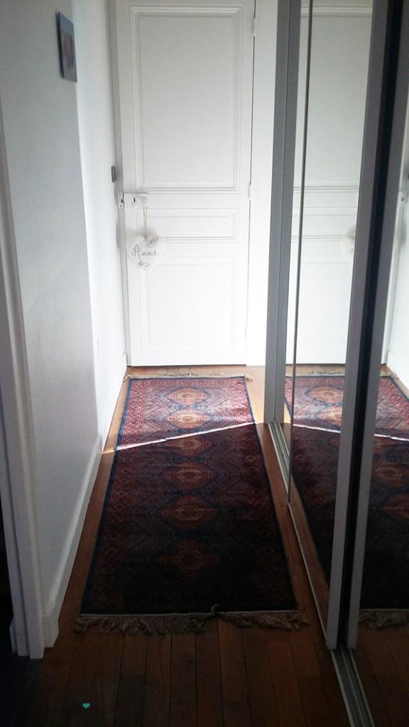 Tapis vintage pour couloir d'entrée
