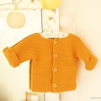 Tricot - Le petit gilet moutarde en coton