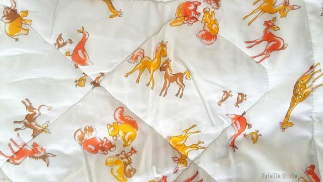 couverture vintage animaux