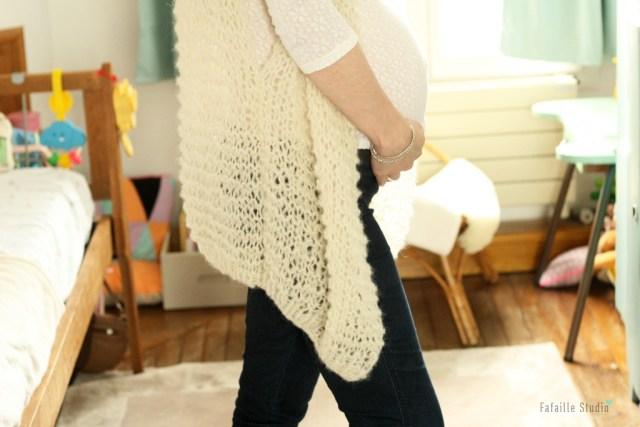Tricoter gilet loose sans manche