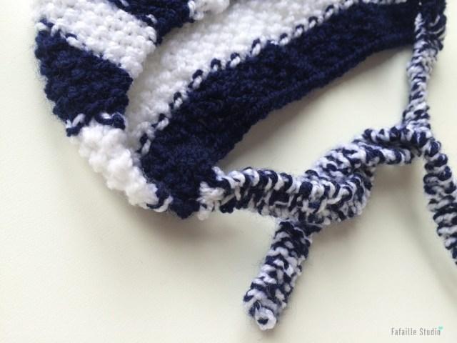 Tricoter un béguin naissance marin
