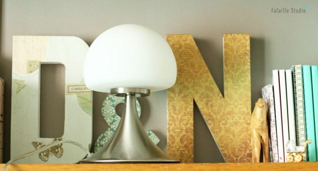 Lampe champignon vintage