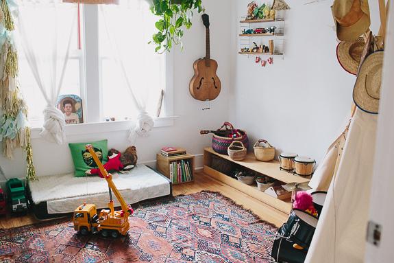 chambre bohème Montessori