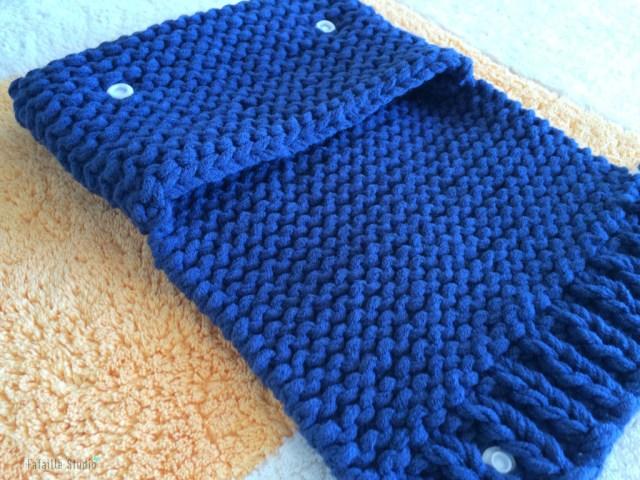 Tuto comment tricoter une pochette
