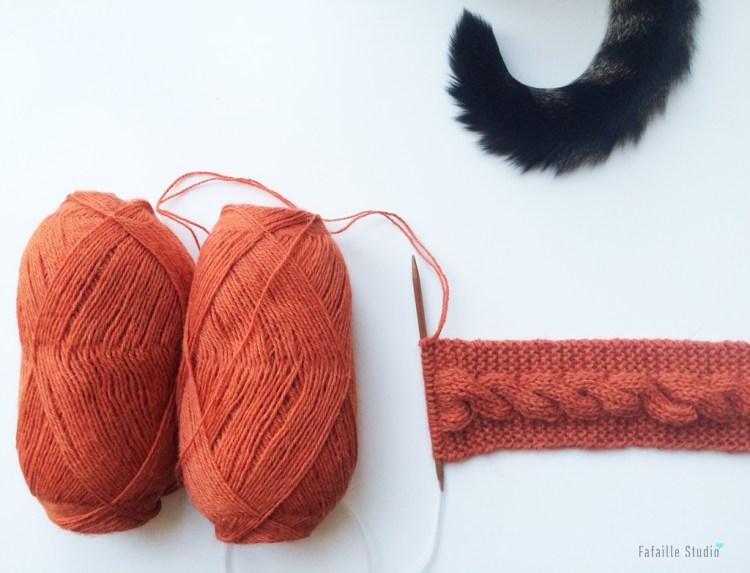 tricoter headband à torsade alpaga