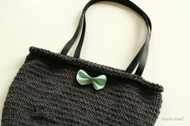 Tuto sac tricot simple