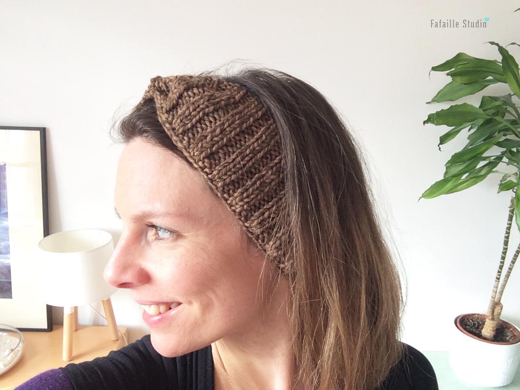 Tricot - Tuto du headband côtelé quick & easy