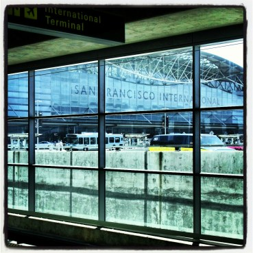 View of the San Francisco International Airport from the BART station
