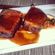 The braised beef short ribs!