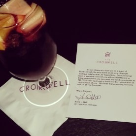 Complimentary glasses of sangria as a welcome to The Cromwell.