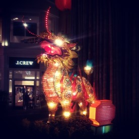 The Grove decorated for the Lunar New Year.
