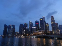Another night view of the Singapore skyline.