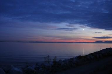 Moonlight from Iona Beach