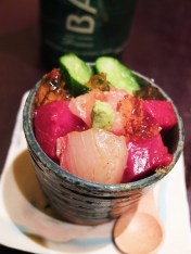 Sashimi on Rice at Bohemian