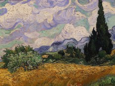 Wheat Fields with Cypresses by Vincent van Gogh