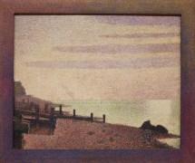 Evening, Honfleur by Georges-Pierre Seurat