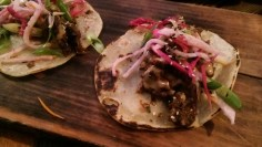 "The Steak Tacos ""Bulgogi"" are highly recommended."