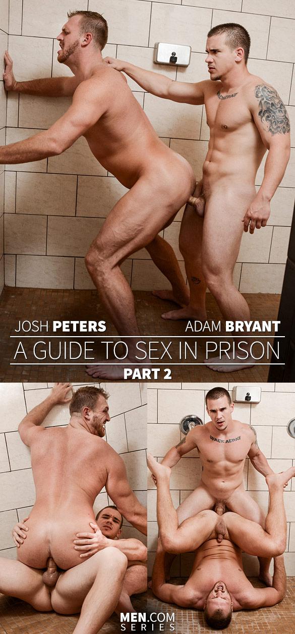 "Men.com: Adam Bryant fucks Josh Peters in ""A Guide to Sex in Prison, Part 2"""