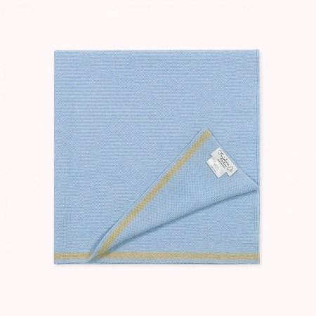 Fagiolino Caschmere Coccole Blanket Celeste Blue