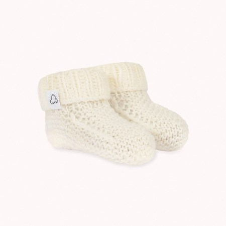 Fagiolino Cashmere Meina Baby Shoes Sugar Cream