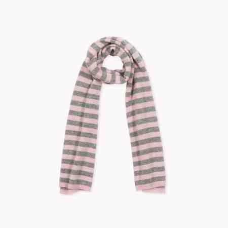Fagiolino Cashmere Scarf Stripes Petal Rose