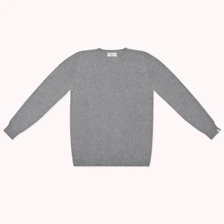 Fagiolino Cashmere Cittino Sweater Unisex Zeno Grey
