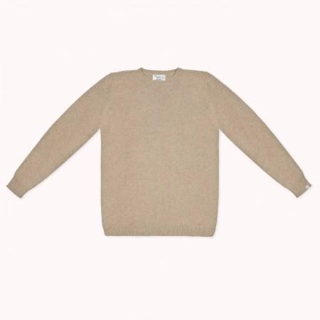 Fagiolino Cashmere Cittino Sweater Unisex Hay Beige