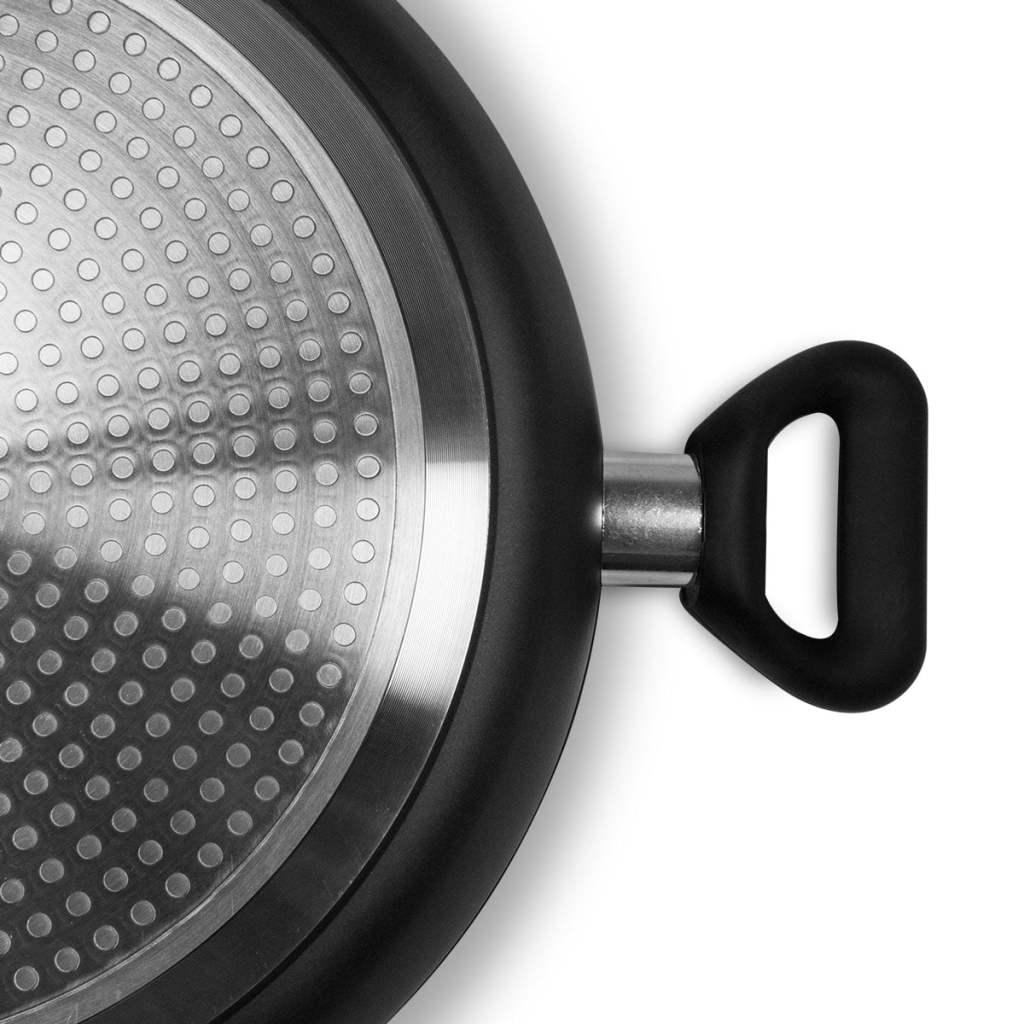 Macht duboka kaserola sa nelepljivim mermerno-keramičkim premazom 30x7,5cm - Titan Black TB-30