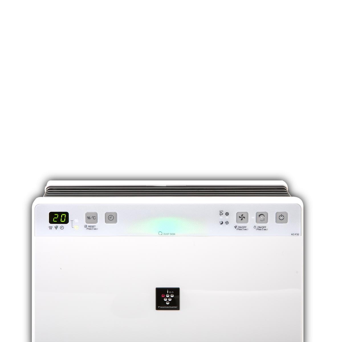 Prečišćivač vazduha sa jonizatorom, ovlaživačem i HEPA filterom - Sharp KC-F32EU-W gornji deo