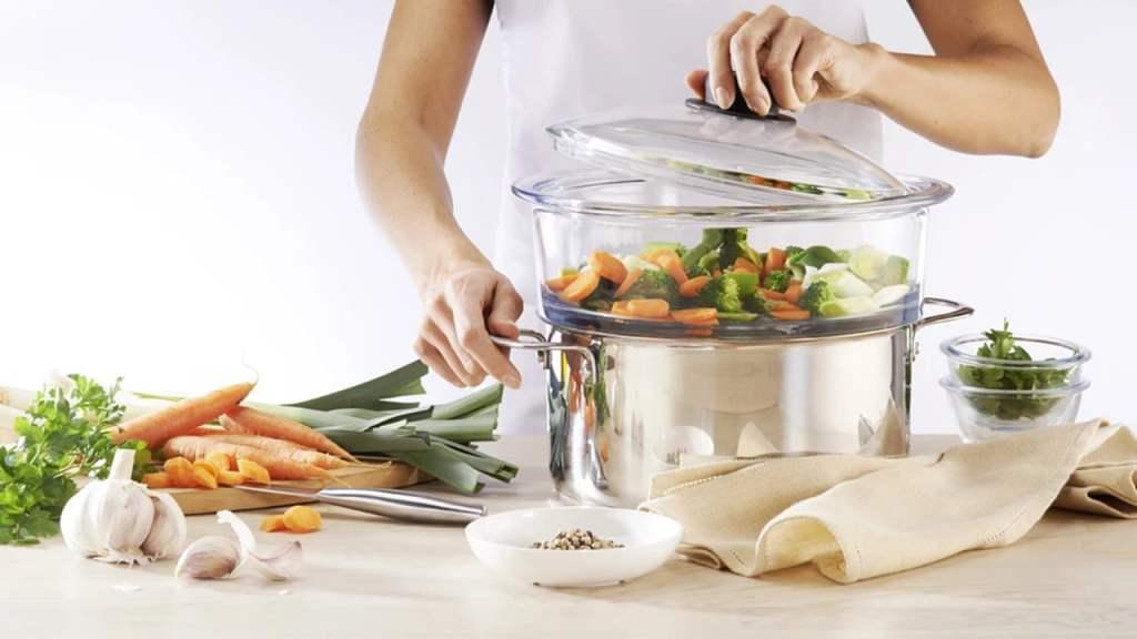 aVatrostalna posuda za kuvanje na pari  24 X 9cm – P05N povrce