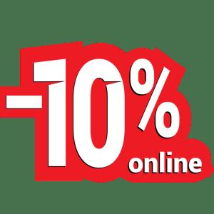 dodatnih 10% popusta za online kupovinu