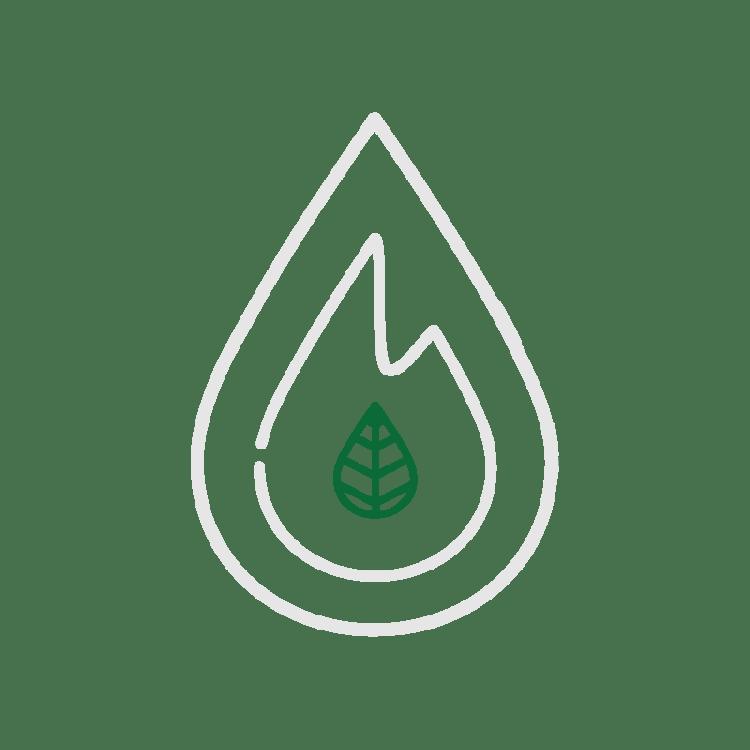 De kern van het logo van Fagus Outdoor is een beukenblaadje en staat voor de link met natuur.