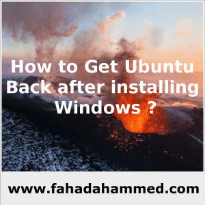 How_to_Get_Ubuntu_Back_after_installing_Windows