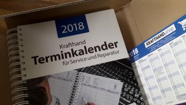 Krafthand-Terminkalender 2018 und Jahresübersicht