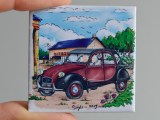 Magnet Citroën 2cv Bordeau