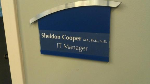 sheldon cooper, IT manager