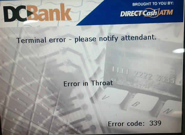 error in throat