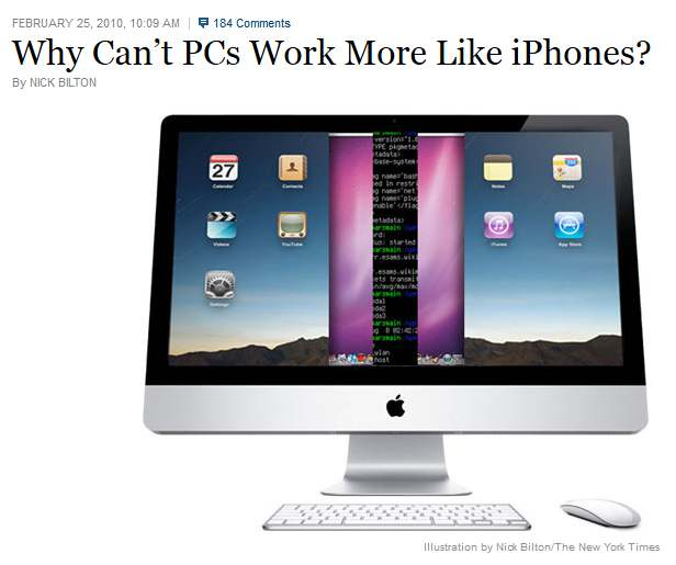 why cant pcs work more like iphones