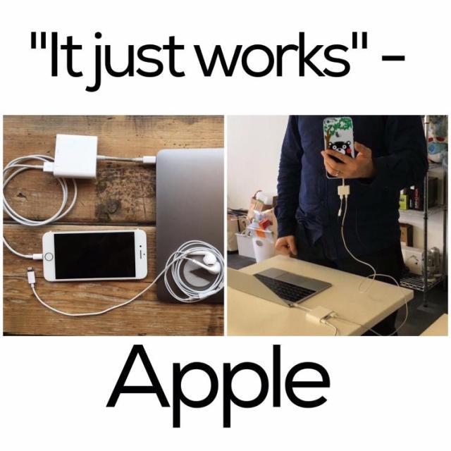 apple it just works pic faildesk