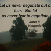 John F. Kennedy, #quote, negotiate