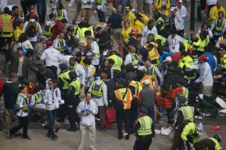 Note the MANPOWER and FIRST RESPONDERS as well as NO GUNS pointed despite bombing